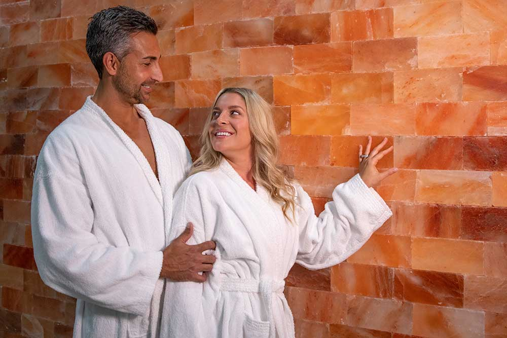 couple in a salt room